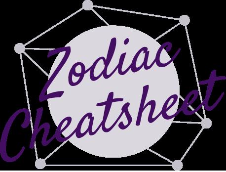 Zodiac Cheatsheet